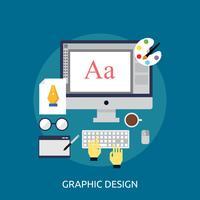Progettazione dell'illustrazione concettuale di progettazione grafica vettore