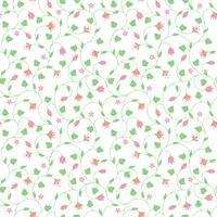 Seamless pattern floreale con piccoli fiori rosa