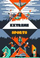 Poster di sport estremi vettore