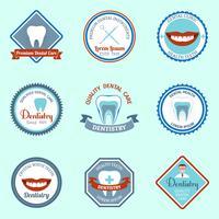 Emblemi dentali impostati vettore