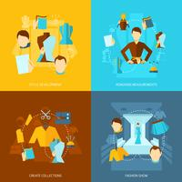 Designer di abiti piatti