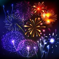 Fuochi d'artificio Visualizza sfondo vettore