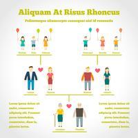 Infographics dell'albero genealogico vettore