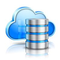 Concetto di cloud computing vettore