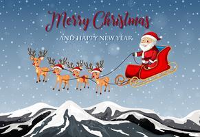 Buon modello di cartolina di Natale