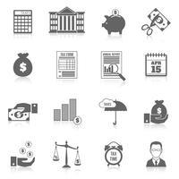 Set di icone di imposta vettore