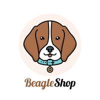 Logo del cane Beagle vettore