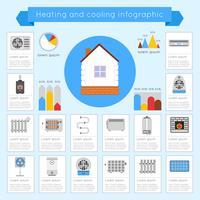 Infographics di riscaldamento e raffreddamento vettore
