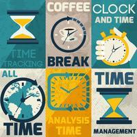 Poster per la gestione del tempo vettore