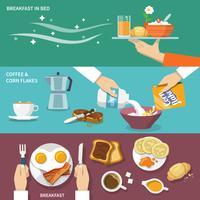 Set di banner colazione vettore