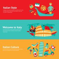 Set di banner di Italia