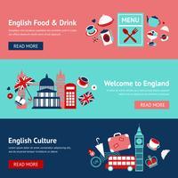 Set di banner di Inghilterra