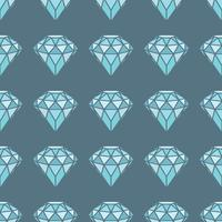 Modello senza cuciture dei diamanti blu geometrici su fondo grigio. Design di cristalli trendy alla moda.