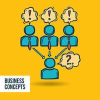 Schizzo di business colloquio di lavoro