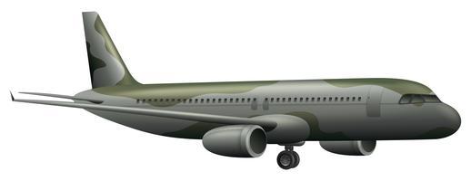 Aeroplano dell'esercito su priorità bassa bianca vettore