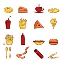 Schizzo di icona di fast food vettore