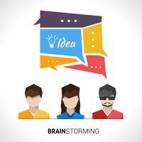 """Illustrazione di concetto di """"brainstorming"""" vettore"""