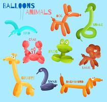 Animali palloncino isolati vettore