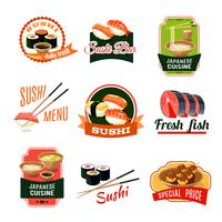 Etichette alimentari asiatiche vettore