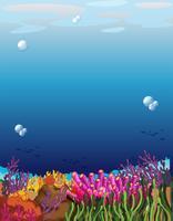 Una bellissima scena subacquea vettore