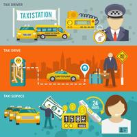 Set di banner di taxi