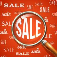 Lente d'ingrandimento e vendita vettore