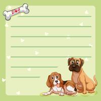 Modello di carta con cani carini vettore