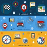 Set di banner di navigazione vettore