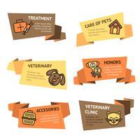 Set di banner veterinario vettore