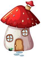 Una casa dei funghi incantata vettore