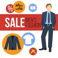 Vendita abbigliamento moda uomo vettore