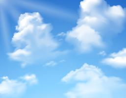 Cielo con nuvole vettore