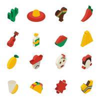 Icone messicane isometriche