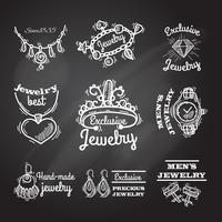 Emblemi di lavagna gioielli vettore