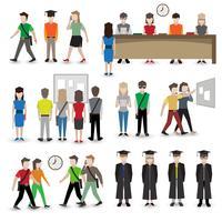 Avatar di persone universitarie vettore