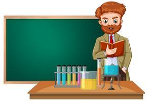Un insegnante di scienze in classe