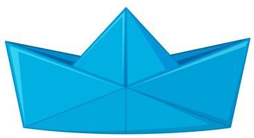 Carta blu piegata a forma di cappello vettore