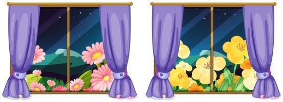 Due viste dalle finestre