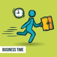 Schizzo aziendale di gestione del tempo vettore
