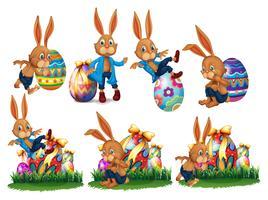 uova di Pasqua e coniglio divertente