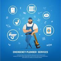 Servizio idraulico aziendale bello con chiave