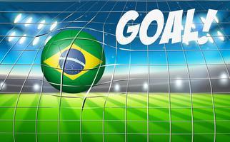Obiettivo del pallone da calcio del Brasile