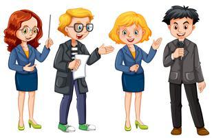 Set di giornalista vettore
