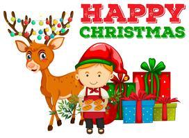 Tema natalizio con fornaio e renna