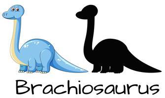 Disegno diverso del dinosauro brachiosauro