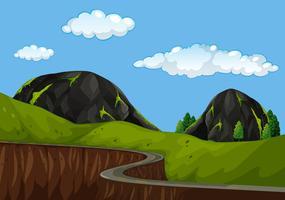 Una bella strada di montagna vettore