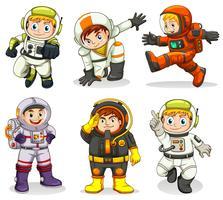 Set di carattere astronauta vettore