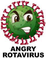 Chiuda in su del rotavirus arrabbiato