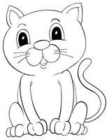 Doodle animale da disegno per gatto a pelo corto vettore