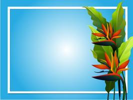 Design del telaio con fiore uccello del paradiso vettore